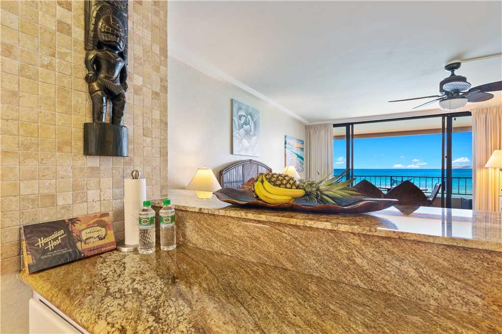 Kitchen counter & view